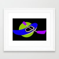 logo Framed Art Prints featuring LOGO by Donna Mafoda