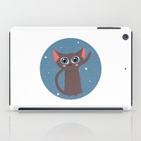 space cat iPad Cases featuring Space cat by Alex Fabri