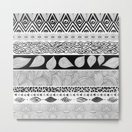 Tribal & Nature Play Metal Print