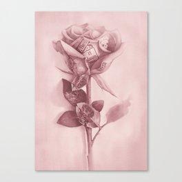 Tattooed Rose Canvas Print