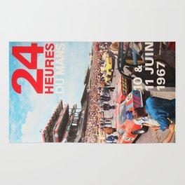 Le Mans 1967, 24hs Le Mans, 1967, original vintage poster Rug