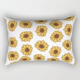 lil' anxious sunflowers Rectangular Pillow