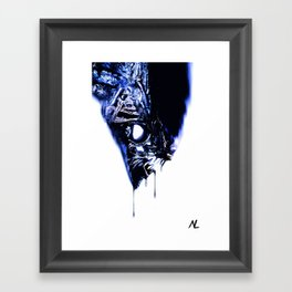 Alien Xenomorph Illustration, Horror, Sci-fi Film, Movie Pop art, Geeky Home Decor, Nerdy Poster Framed Art Print
