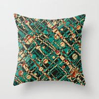alien Throw Pillows featuring Alien by Glanoramay