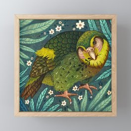 Kakapo Framed Mini Art Print
