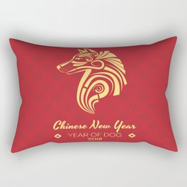 Chinese New Year poster for the year of the earth dog 2018 Rectangular Pillow
