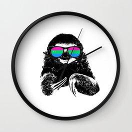 Pride Sloth Polysexual Flag Sunglasses Wall Clock