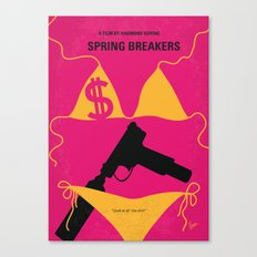 No218 My SPRING BREAKERS minimal movie poster Canvas Print