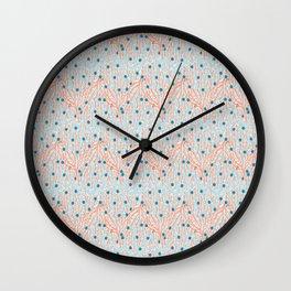 Red Coral Water Geometric Ocean Sealife Aqua Wall Clock