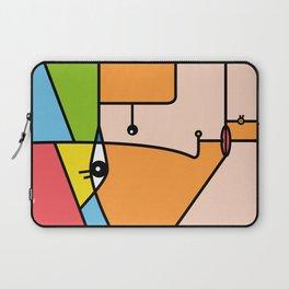 Rostros abstractos Laptop Sleeve