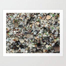 Sea glass beach in Fort Bragg Art Print
