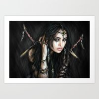 gypsy Art Prints featuring Gypsy by Justin Gedak