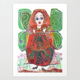 Green Winged Fairy Art Print