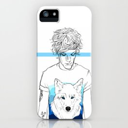 Louis and the wolf iPhone Case