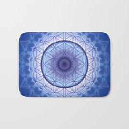 Flower of Life blue Bath Mat