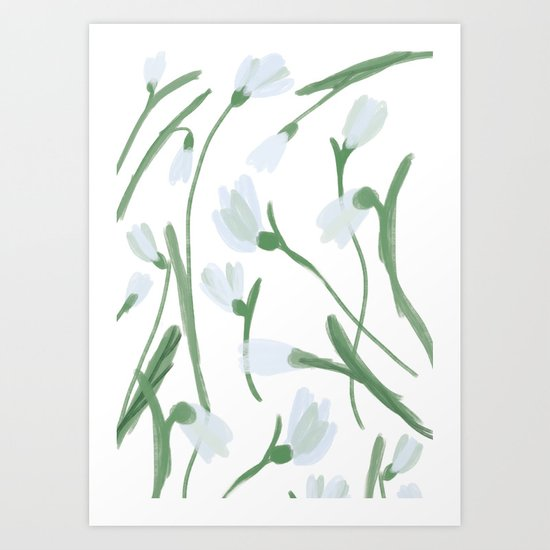 Snowdrops Art Print