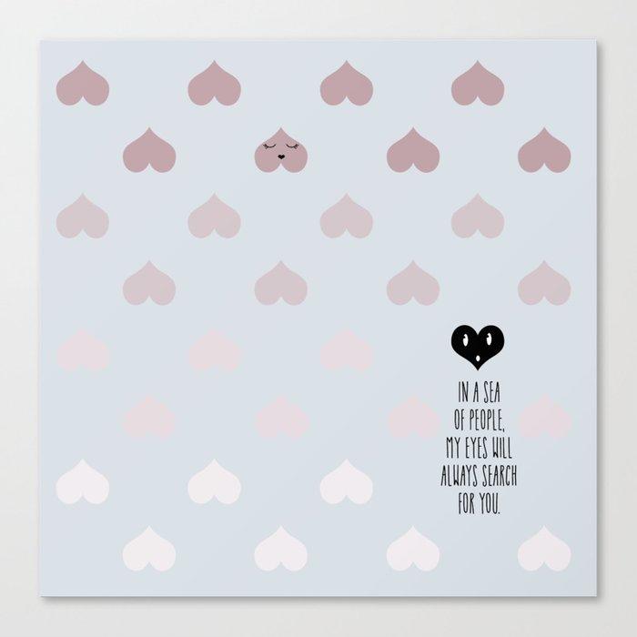 SEA OF HEARTS Canvas Print