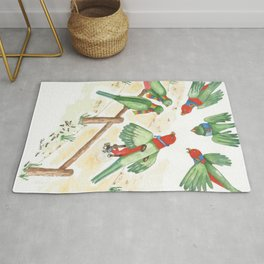 Birds of a Feather Flocking Together Rug