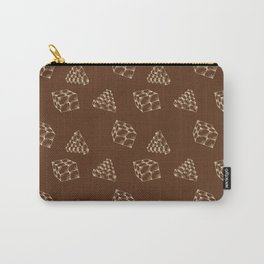 the pyramids and cubes on a brown background . illustration Carry-All Pouch