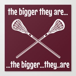 the bigger they are Canvas Print