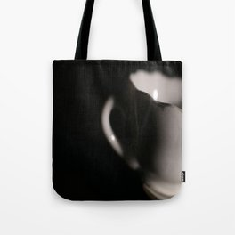 Little Teacup on Black Tote Bag