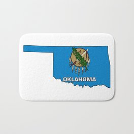 Oklahoma Map with State Flag Bath Mat