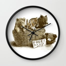 Lions and Tigers and Bears Wall Clock