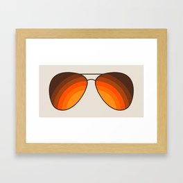 Golden Shades Framed Art Print