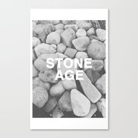queens of the stone age Canvas Prints featuring Stone Age by Concept Phi