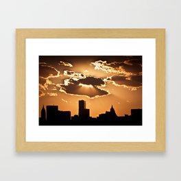 Sunset over NYC Framed Art Print