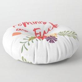 Feminist as Fuck (Uncensored Version) Floor Pillow