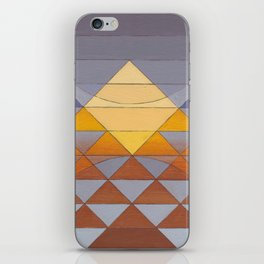 Pyramid Sun Mauve Purple iPhone Skin