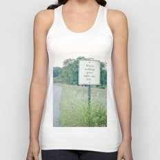 When nothing goes right go left.  Unisex Tank Top