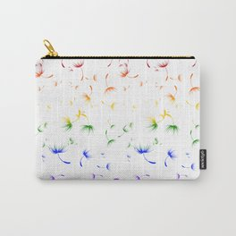 Dandelion Seeds Gay Pride (white background) Carry-All Pouch