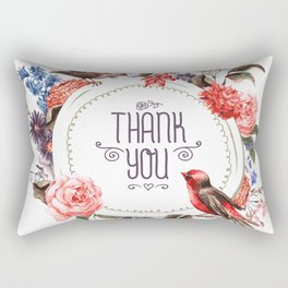 Birds Thanks Rectangular Pillow