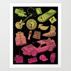 Artifacts: Back to the Future Art Print