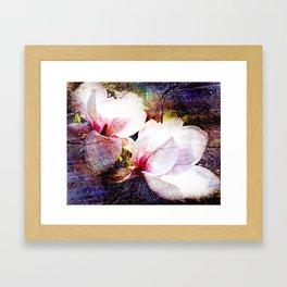 Double White Texture Framed Art Print