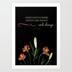 Quote by Claude Monet Art Print