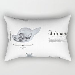 Dog Skull Comparison Rectangular Pillow
