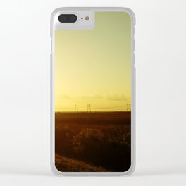 Alligator Alley Sunrise Clear iPhone Case