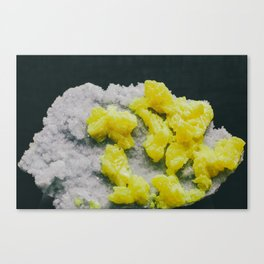 Sulfur on Celestine Canvas Print
