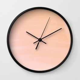 Hand painted coral pink watercolor paint Wall Clock