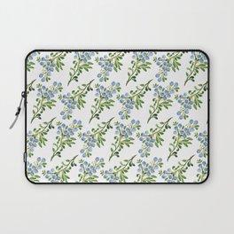 Watercolor Blueberries Pattern Laptop Sleeve