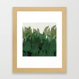 leaves forest Framed Art Print