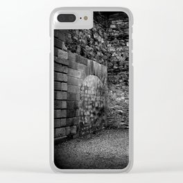 Kilmainham Skull | Black and White | Skull and Cross | Halloween Clear iPhone Case