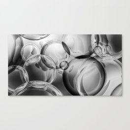 Bubble Noir Canvas Print