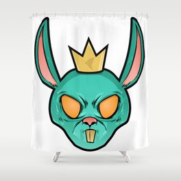 M4X Ghost Bunny Shower Curtain