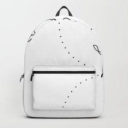 Hand Drawn Flower Dots Frame Print Backpack