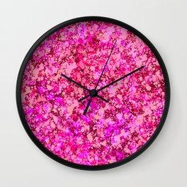 Spring Cherry Blossom Sakura Abstract Painting Wall Clock
