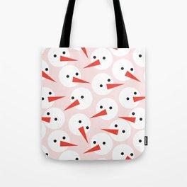 Snowman pattern Tote Bag